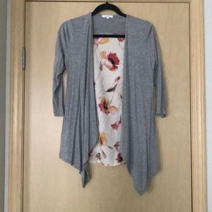 Maurices Mixed Media Open Front Cardigan